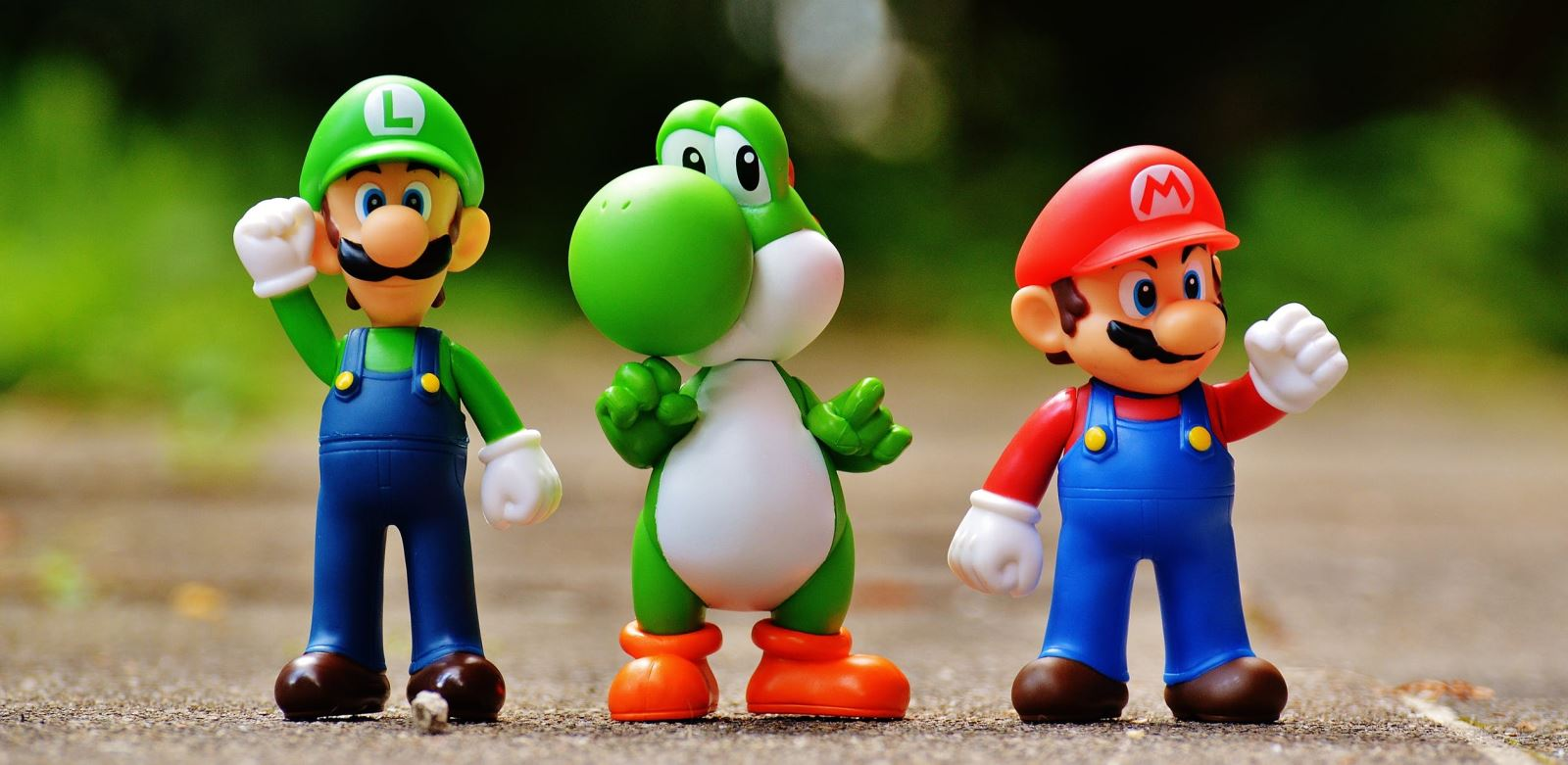 Left to Right: Luigi, Yoshi, and Mario