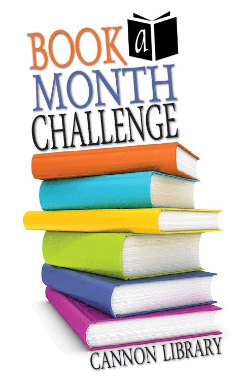 Cannon Library Book a Month Challenge logo